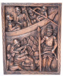 Asoro (15.7x19.7); A Benin warrior credited with defending the kingdom against British invasion.