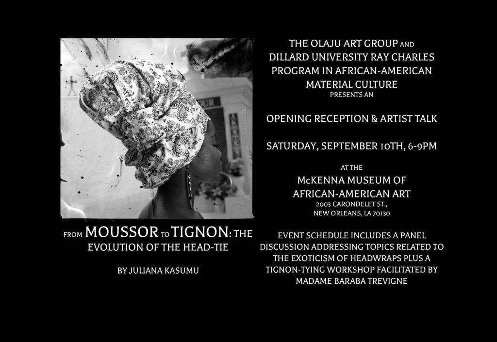 Moussor to Tignon- Opening Reception Invite (Horizontal)